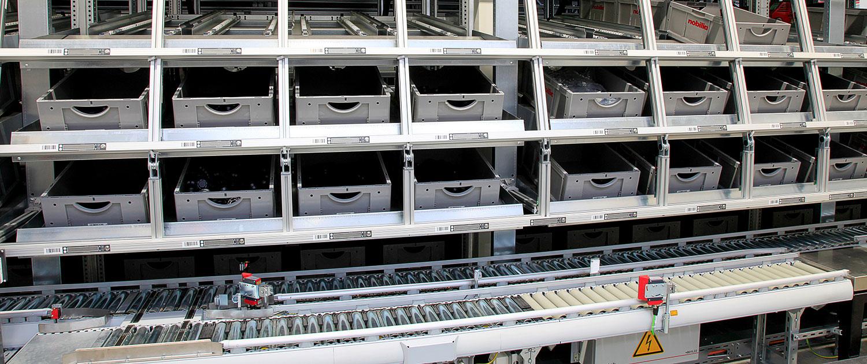 shuttle durchlaufkanäle automatisierte anlagen schmale logtec warburg