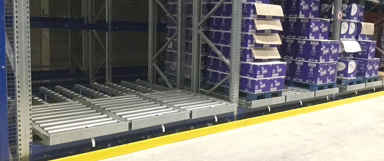 rollenbahnen automatisierte anlagen intralogistik schmale logtec