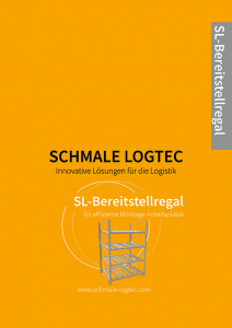 Cover Produktflyer Bereitstellregal Schmale Logtec
