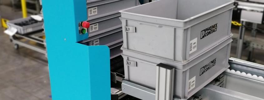 AGV-Connect von SCHMALE LOGTEC – FTS Be- und Entladestationen mit zugehöriger Peripherie